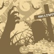 Stock Vector: Grungy halloween background