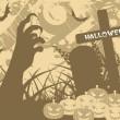 Fondo halloween Grunge — Vector de stock