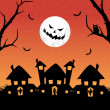 Modern pattern halloween background — Imagen vectorial