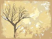 Texture background with dead tree — Stock Vector