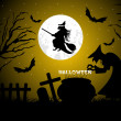 Stock Photo: Halloween background vector