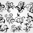 Antique black silhouette tattoos - Stock Vector