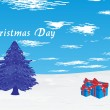 Royalty-Free Stock Vectorielle: Grungy background for xmas day