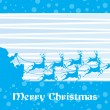 Royalty-Free Stock Vector Image: Merry christmas with reindeer silhouette