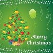 Royalty-Free Stock Vector Image: Green background with christmas tree