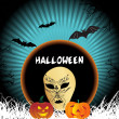 Vector de stock : Wallpaper for halloween