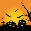 图库矢量图片: Wallpaper for halloween day celebration