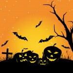 Wallpaper for halloween day celebration — Stock Vector