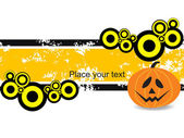 Grungy banner with pumpkin — Stock Vector