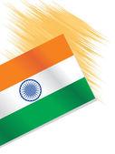 Illustration indian national flag — Stock Vector