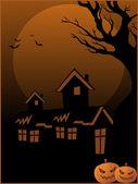 Halloween achtergrond illustration — Stockvector