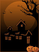 Halloween wallpaper illustration — Vector de stock