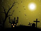 Cadılar bayramı duvar kağıdı illüstrasyon — Stok Vektör