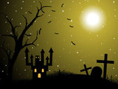 Illustratie van halloween wallpaper — Stockvector
