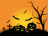 Wallpaper for halloween day celebration — Stockvector