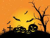 Achtergrond voor de viering van de dag van halloween — Stockvector