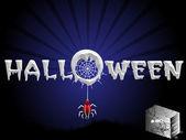 Concepto de miedo para halloween — Vector de stock