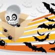 Stock Vector: Spooky halloween background