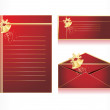 Stock Vector: Xmas envelope and letter head