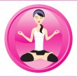 Royalty-Free Stock Vector Image: Background with isolated yoga icons