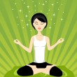 Royalty-Free Stock Vector Image: Beautiful background with yoga girl