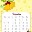 Vector, calendar for 2009 with xmas bell — Image vectorielle