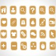 Stock Vector: Yellow small icons for multipurpose use