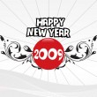 Year 2009 creative frame design8 — Image vectorielle