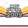 Vector de stock : Year 2009 creative frame design9