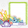 Stock Vector: Year 2009 creative frame design1