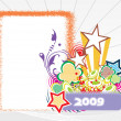 Vector de stock : Year 2009 creative frame design4