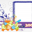 Year 2009 creative frame design5 — Stock Vector