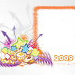 Vector de stock : Year 2009 creative frame design7