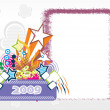 Stock Vector: Year 2009 creative frame design6