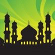 Royalty-Free Stock Vector Image: Abstract background with mosques,