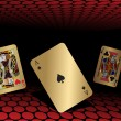 Royalty-Free Stock Vektorfiler: Abstract background with playing cards