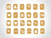 Yellow small icons for multipurpose use — Stock Vector