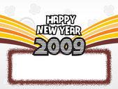 Año 2009 marco creativo design9 — Vector de stock