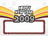 Año 2009 marco creativo design9 — Vector de stock