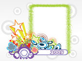 Year 2009 creative frame design1 — Stock Vector