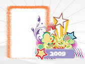 Year 2009 creative frame design4 — ストックベクタ