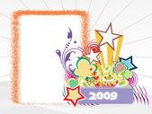 Year 2009 creative frame design4 — Stock Vector