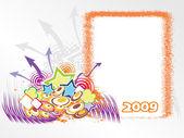 Year 2009 creative frame design7 — Stock Vector