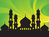 Abstract background with mosques, — Stock Vector