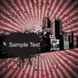 Royalty-Free Stock Imagen vectorial: Grungy modern city background
