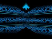 Abstracte pentagon pijl achtergrond — Stockvector