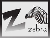 Abstract alphabet series z, illustration — Stock Vector