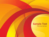 Red and yellow wave background — Stock Vector