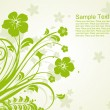 Green floral pattern illustration — Stockvectorbeeld