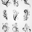 Artistic modern tattoos collection — Stock Vector